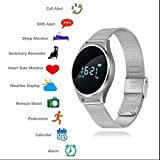 Chaiaiai Blutdruck Smart Armband fitness Armband herzfrequenz Smartwatch Schrittzähler Fitness uhr Anruf SMS Touch Screen Smart uhr Kompatibel Android und IOS