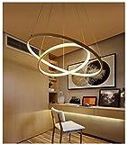 Retro Chandelier 110-240V Moderne Pendelleuchten für Wohnzimmer Esszimmer 3/2 / Circle Rings Acryl Aluminium Körper LED Pendelleuchte Vorrichtungen , warm white , 20*40cm