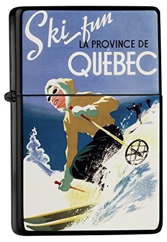 Encendedor De Gasolina Impreso Recargable De esquí de Quebec