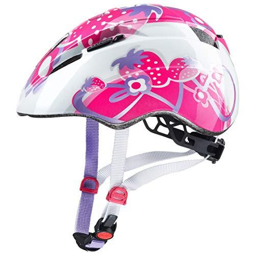 Uvex Kid 2 Casco clásico City Bike Helmet 46/52 Rosa, Púrpura, Blanco - Cascos para Bicicleta (Casco clásico, City Bike Helmet, 46/52, En Molde, Policarbonato, Rosa, Púrpura, Blanco)