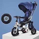 LEIXIN Bambini in Bicicletta Moto Freestyle Bambini Ammortizzatore Sedile Ribaltabile Bambino Passeggino Triciclo reclinabile Bici Bambino Bici Pieghevoli 1-3-5 Anni