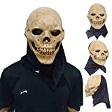 Disfraz de Halloween Prop Calavera de látex de adultos cabeza completa para disfraz fiesta
