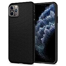 Spigen Liquid Air Kompatibel mit iPhone 11 Pro Max Hülle, Stylisch Muster Silikon Capsule Handyhülle für iPhone 11 Pro Max Case Schwarz 075CS27134