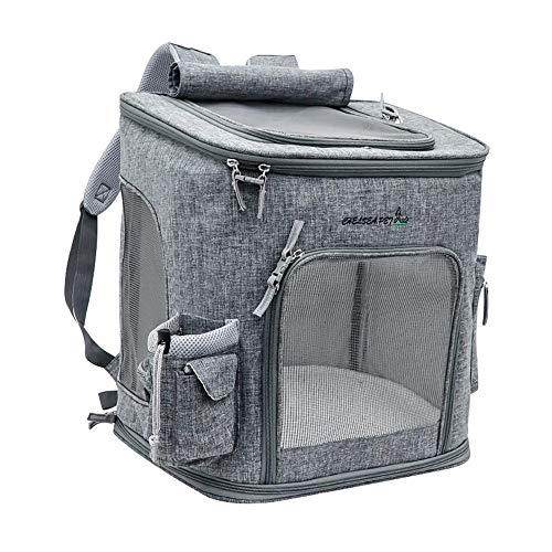 Haustier-Tasche Extra großer Haustierrucksack Sommer atmungsaktiv aus Tragetasche Faltbare Katze Hunderucksack for Haustiere, Eine großartige Möglichkeit, Ihr Haustier heraus (Farbe : Grau) (Nylon-einkaufstasche Check)