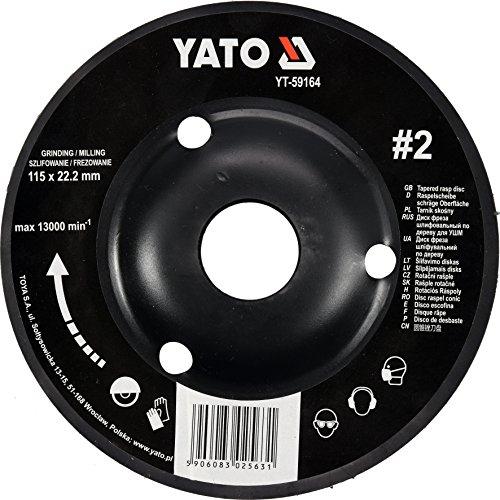 YATO Profi Raspelscheibe für Winkelschleifer Auswahl 115 mm 125 mm Schleifscheibe Holzscheibe Holz Flex Holzkunst (115 mm Nr 1)