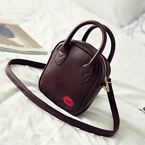 FZHLY Le Nuove Signore Borsa Europa E Negli Stati Uniti Retro Fashion Bag Semplice,Brown Brown
