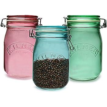 Glass Cliptop Jars