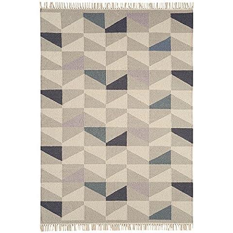 Debenhams Purple Wool 'Geo Kelim' Rug 120 X 170Cm