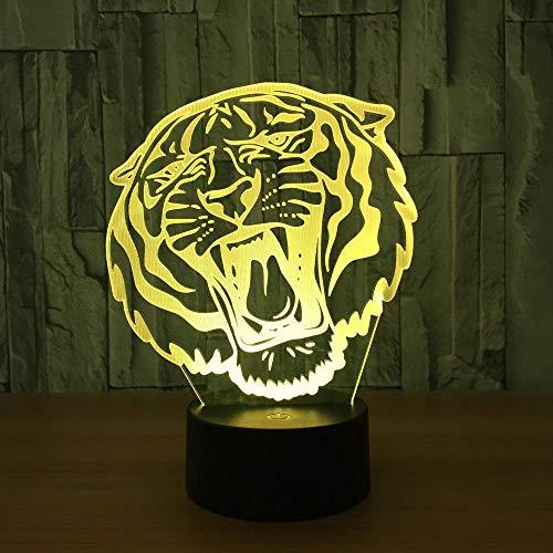 Lámpara De Ilusión Visual 3D Tigre Acrílico Transparente Luz ...