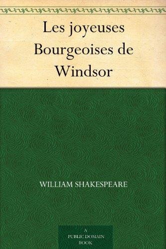 Couverture du livre Les joyeuses Bourgeoises de Windsor