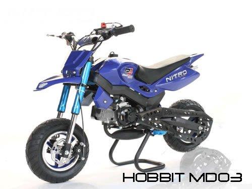 Dirtbike 49cc Hobbit Sport Pocketbike Crossbike Kinderbike Blau