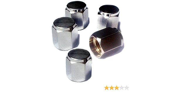 Preskin Ventilkappen 5 X Hexagon Auto Ventilkappe Aus Messing Chrom Ventildeckel Für Reifenventile Auto