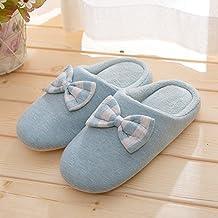35de467f13161 YMFIE Zapatillas de algodón de Invierno los Amantes de Zapatos Moda hogar Piso  Interior Zapatillas térmicas