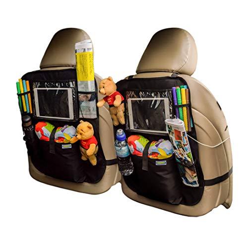 Organizer Auto BEBINEX, Proteggi Sedile, Protezione Sedile Auto Bambini, Porta Tablet Auto, 2pcs Proteggi Sedile Auto Bambini, Impermeabile, 2 Pezzi, 52.5 x 42.5 cm