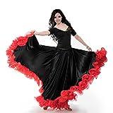 ROYAL SMEELA Frauen Bauchtanz ATS Tribal 25 Yard Skirt Flamenco Spitze Rüschen Große Swing Röcke Tänzerin Tanzen Kleid Kostüm