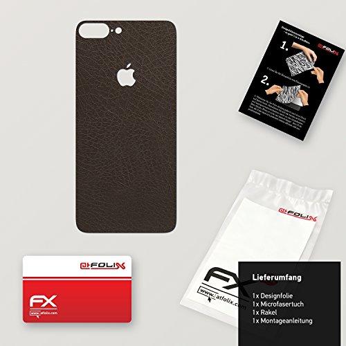 """Skin Apple iPhone 7 Plus """"FX-Wood-Root"""" Designfolie Sticker FX-Leather-Brown"""