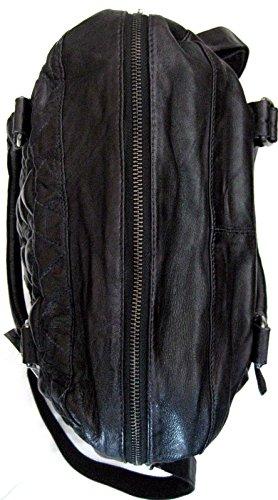 Billy the Kid Marokko Naima Triangle Shopper Tasche Leder 40 cm Black