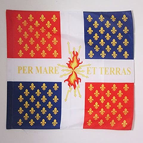 Fourreau 90 - DRAPEAU COMPAGNIES FRANCHES DE LA MARINE 90x90cm