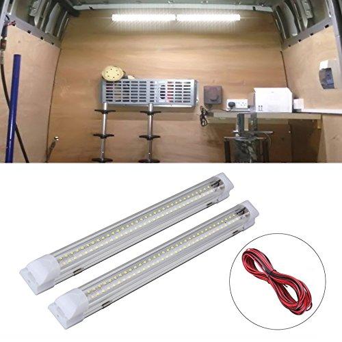 SUPAREE 12-80V 72 LEDs zertifizierte LED Lichtleiste 500lm Auto Innenleuchten für Van Truck Truck Camper Boot Mehr (2 Stück)