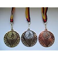 Pokale & Preise Angeln Pokal Kids Medaillen 50mm mit Deutschland-Bändern Turnier Emblem Pokale