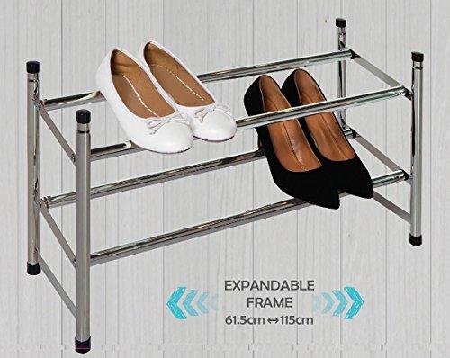 MAXELLPOWER Zapatero METALICO 2 BALDAS 12 Pares Organizador DE Zapatos Guarda Zapatos Metal