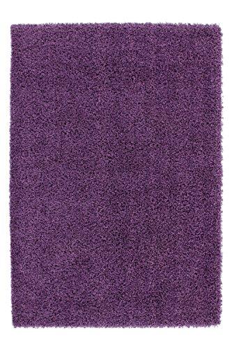 Preisvergleich Produktbild Kayoom 4056216028174 Teppich, 100% Polypropylen Heatset Frisée, violett, 110 x 60 x 5 cm