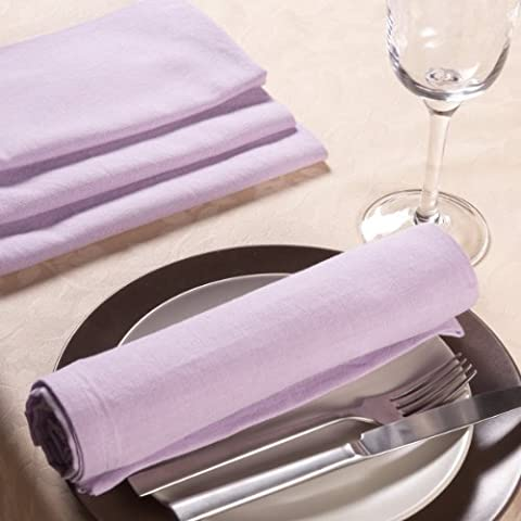 Sancarlos - Servilleta lisa lila - algodón 100% - 50x50 cm - lila