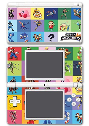 Super Smash Bros Melee Brawl Mario Pikachu Yoshi Mega Man Zelda Sonic Metroid Color Collage Video Game Vinyl Decal Skin Sticker Cover for Nintendo DS Lite System by Vinyl Skin - Mario Ds Und Sonic