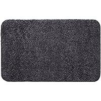 andiamo 700612 Schmutzfangmatte Samson / Waschbarer Fußabtreter aus Baumwolle in Anthrazit für den Innenbereich / 1 x Fußmatte (60 x 100 cm)