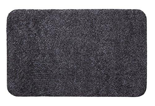 andiamo 700602 Schmutzfangmatte Samson / Waschbare Türmatte aus Baumwolle in Anthrazit für den Innenbereich / 1 x Fußmatte (40 x 60 cm)