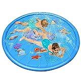 Abilie Sprinkle Splash Spielmatte für Kinder, Wasserbecken, aufblasbar, für draußen, Sommer