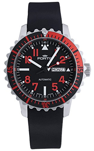 fortis-b-42-marinemaster-day-date-gmt-automatic-steel-red-mens-strap-watch-6702343-k