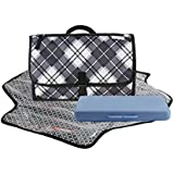 Xshelley Portable Baby Diaper Changing Mats - Waterproof Diaper Changing Pad Station For Baby Newborn InfantFoldable Mat With Detachable Pad Comfortable Waterproof Wipeable(Gray)