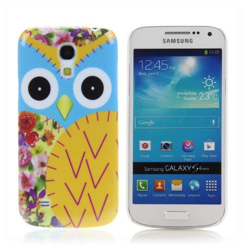 Handy Lux Schutz Hülle Etui Hard Case Cover Motiv für Samsung Galaxy Note 3 - Eule gelb (Eule Handy Cover Für Note 3)