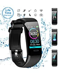 aidiado Fitness Tracker Watch Heart Rate Monitor-1.14'' Color Screen IP67 Waterproof Activity Tracker,Sleep Monitor,Pedometer Smart Wrist Band for Women Men, Android iOS