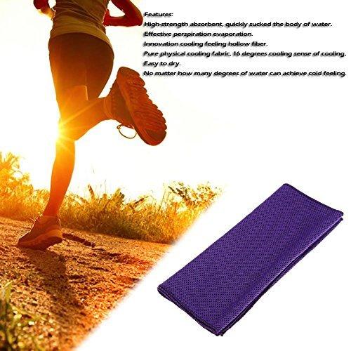 broadroot Sport Kühlendes Handtuch, Wasseraufnahme Outdoor Sweat Waschlappen violett