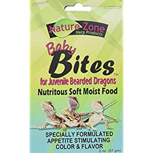 Nature Zone Juvenile Bearded Dragon Baby Bites Nutritious Soft Moist Food 2oz