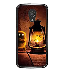 Fuson Premium 2D Back Case Cover Lanther With blue Background Degined For Motorola Moto G2 X1068::Motorola Moto G (2nd Gen)