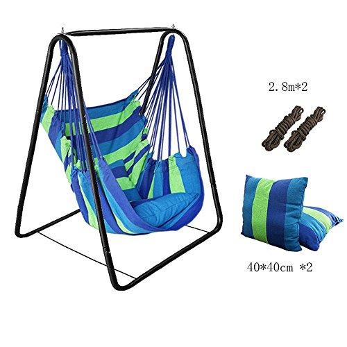 Hängematte Ultraleicht Reise Camping Hängematte 2 x Nylon-Schlingen enthalten für Outdoor Indoor Garten , blue