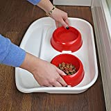 Ferplast 71910021W1 Futterbar für Katzen Lindo, 2 Näpfe in rot - 6