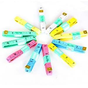 """HuaYang 150cm / 60"""" personnalisé à coudre un ruban à mesurer en plastique ligne souple règle(2 Pcs: Random Color)"""