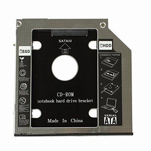 Festplatte Behaelter - TOOGOO(R) 2. HDD Festplatte Behaelter fuer DELL Latitude E6400 E6500 E6410 E6510 Dell Precision M2400 M4400