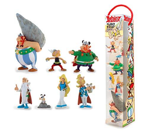 Plastoy SAS PLA70385 - Asterix: Tube Asterix Dorfbewohner, 7 Figuren