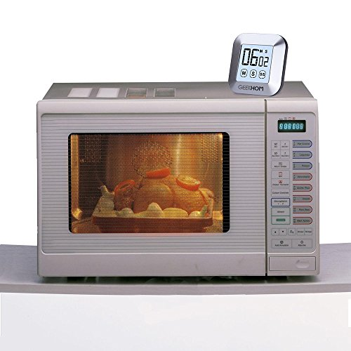 Geekhom, timer da cucina magnetico, timer con allarme touch screen ...
