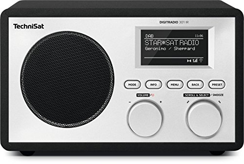 TechniSat Digitradio 301 IR Internetradio (WLAN, LAN, DAB+, DAB, UKW, Radiowecker, Wifi-Streamingfunktion) schwarz