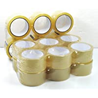 timtina - Lote de 18 rollos de cinta adhesiva para embalajes, color transparente