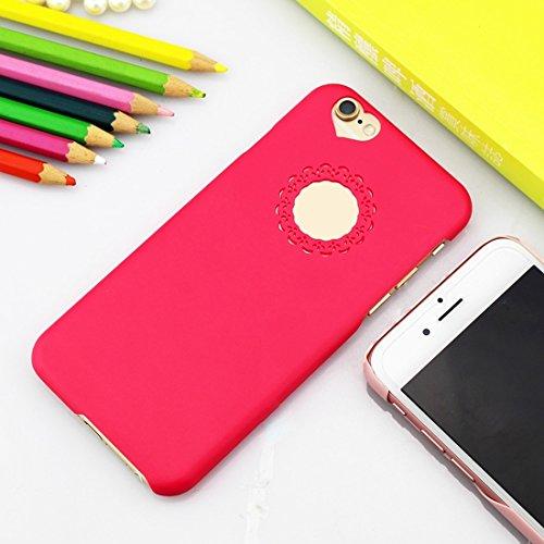 Phone case & Hülle Für IPhone 6 Plus / 6s Plus, Gravur Blume Kunststoff Schutzhülle ( Color : Purple ) Magenta