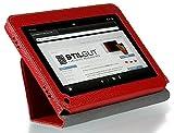 Stilgut Executive Case Ledertasche mit Stand- und Präsentationsfunktion für Amazon Kindle Fire, Rot