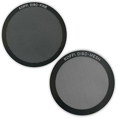 KOFFI ® DISC FINE & MESH - AeroPress Filter Twin Pack - Reusable Stainless Steel Metal Filters - Unlock Your Coffee's Potential Test