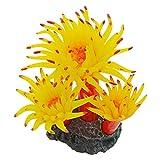 Saim Acuario Decor Plantas Acuáticas Plantas Artificiales Plástico Circulado Simulación Coral Artificial Adorno para pecera Tank,Naranja